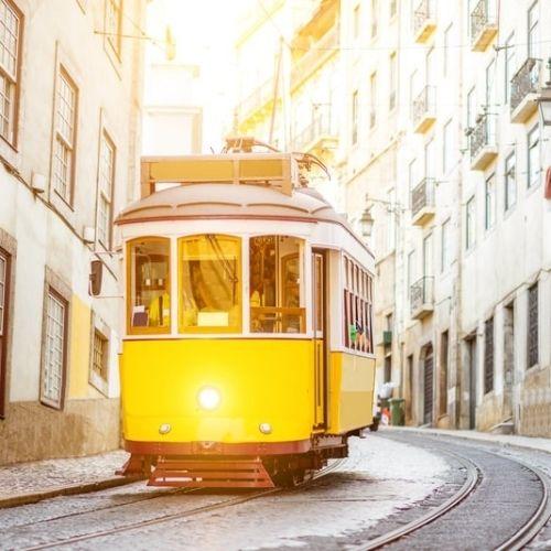 Sporvogn i Lissabon, Portugal.