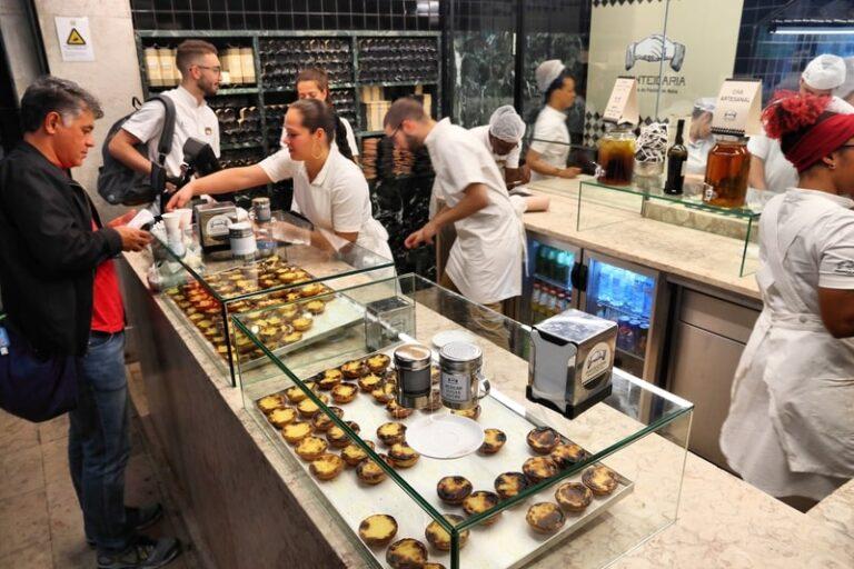 En Pasteis de Nata-butik i Lissabon, Portugals hovedstad